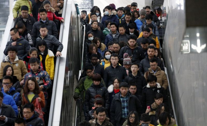 Фотографии, показывающие как много людей живет в Китае
