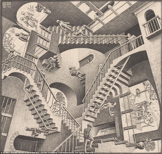 Оптические иллюзии от мастера Маурица Эшера