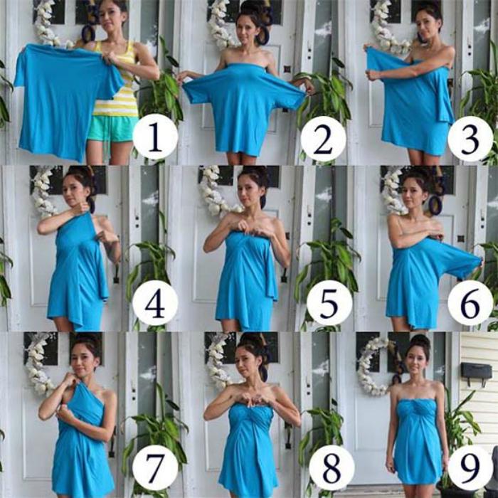 Как из старого сделать новое платье