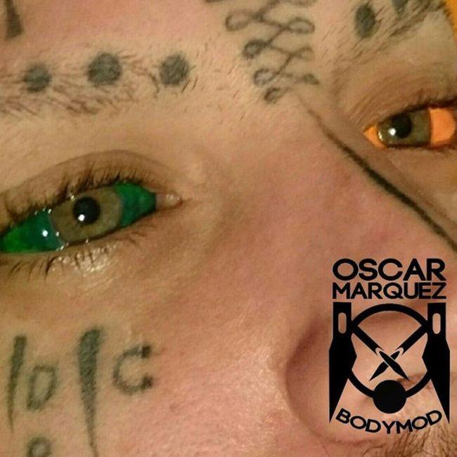 Татуировки на глазных яблоках