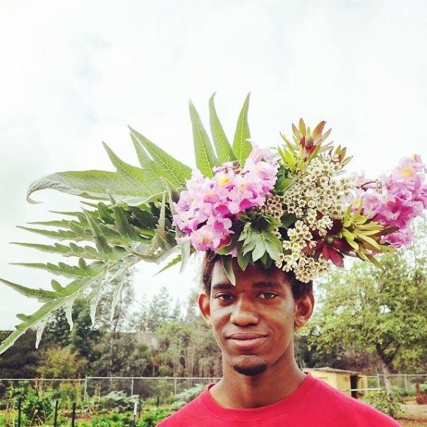 Короны из цветов
