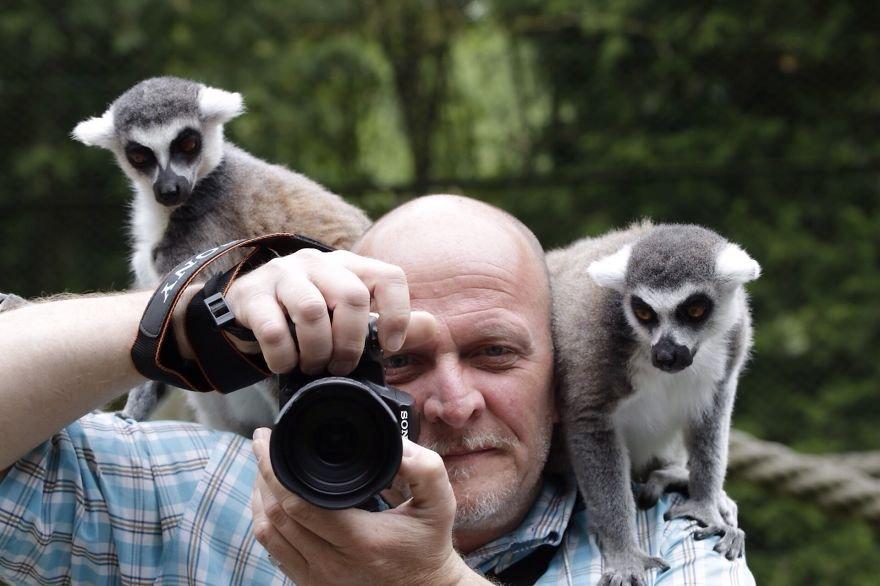 Фотографы дикой природы за работой
