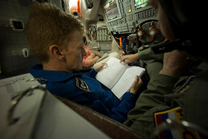 How is the training of astronaut Timothy Peak to the ISS