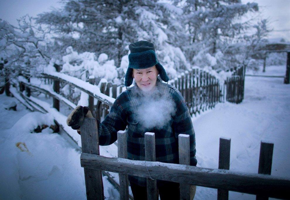 Поселок Оймякон на востоке Якутии, где живет зима