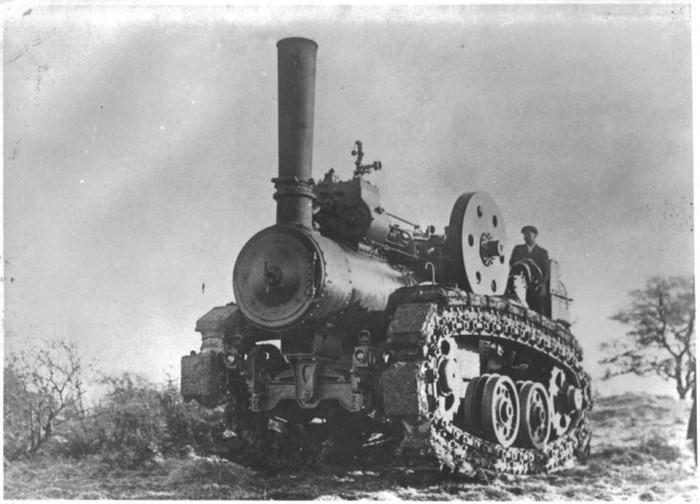 Паровой гусеничный трактор Хорнсби