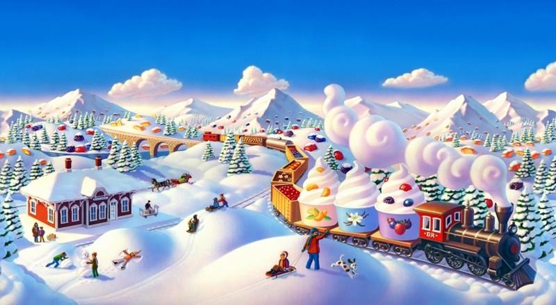 Сказочные зимние домики от Робин Молине