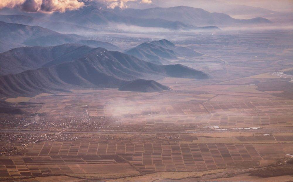 Красота пейзажей Грузии с высоты птичьего полета