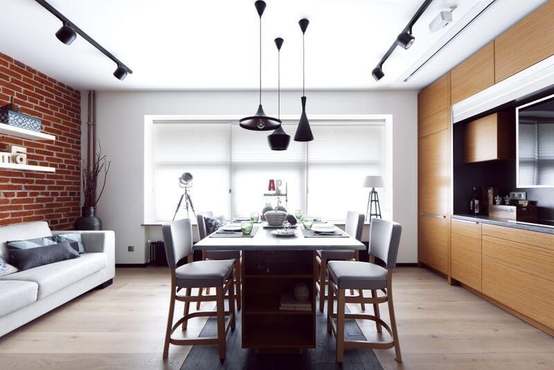 Однокомнатная стильная квартира площадью 25 кв. м.