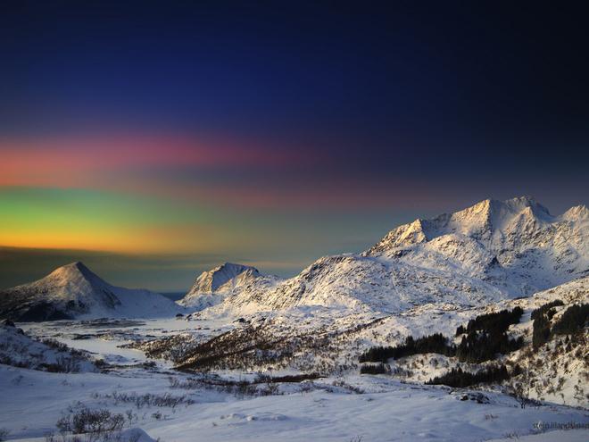 Зимняя красота Норвегии