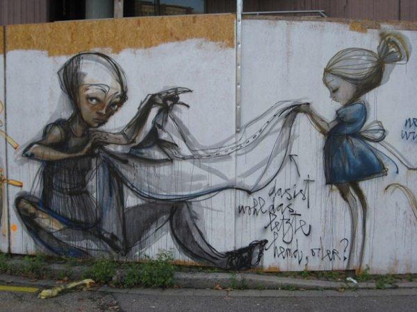 Уличные рисунки на улицах городов мира