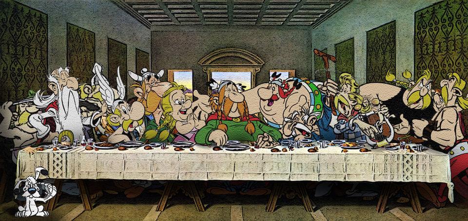 Герои мультфильмов на известныx картинаx