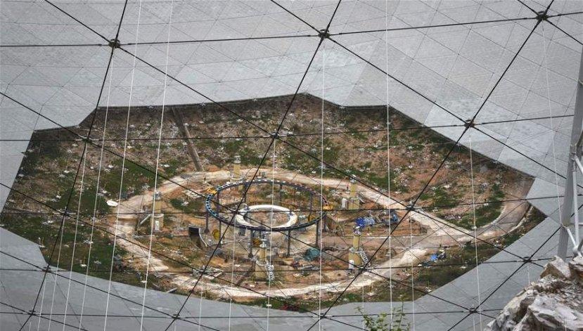 Самый большой радиотелескоп для поиска внеземной жизни строят в Китае