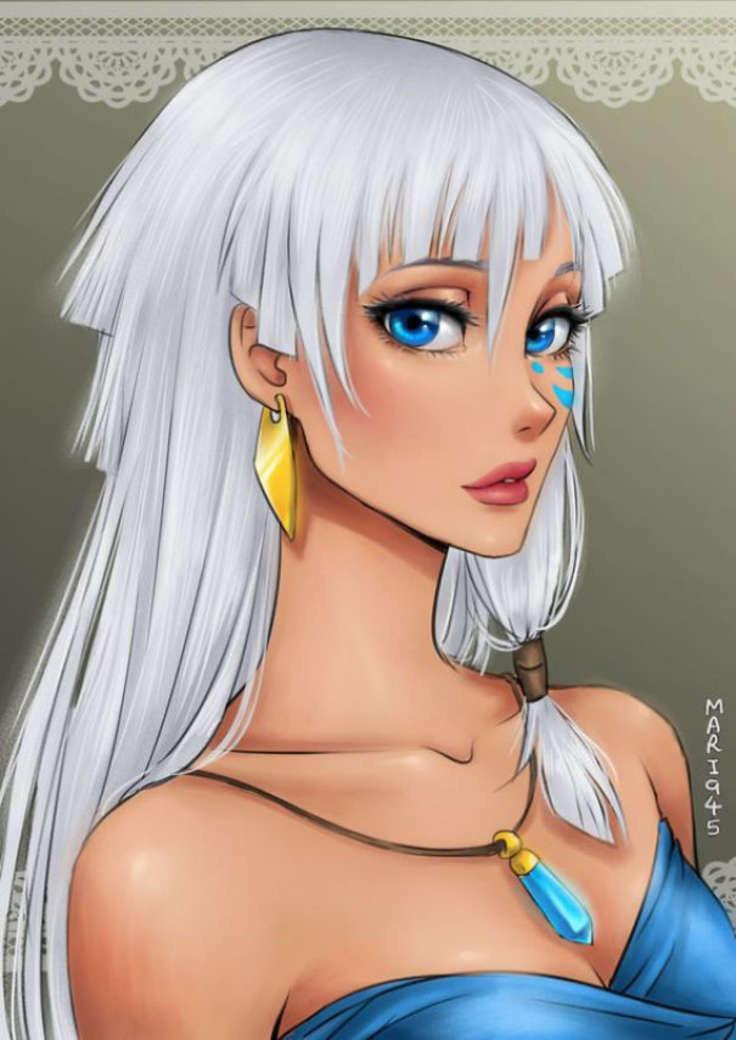 Персонажи Диснея в стиле аниме от Maryam Safdar