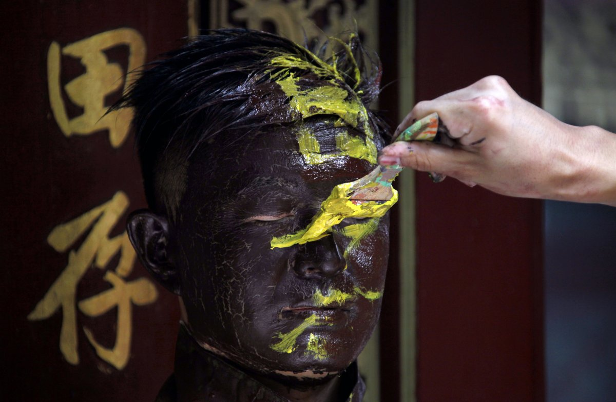 Искусство камуфляжа от китайского художника Лью Болина