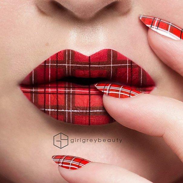 Произведения искусства на губах