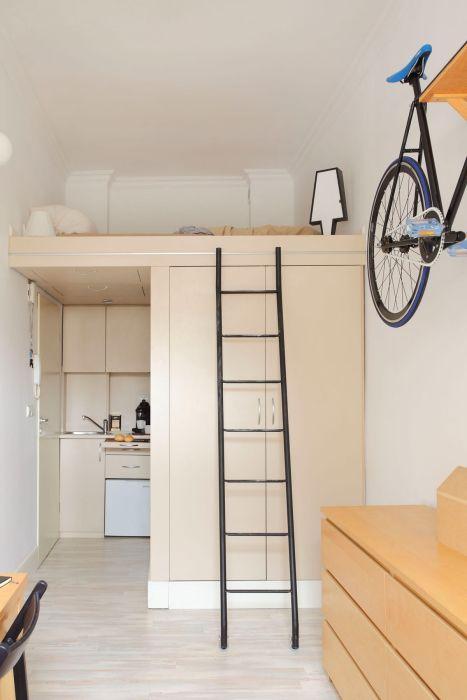 Идеальная квартира-студия на площади 13 квадратных метров