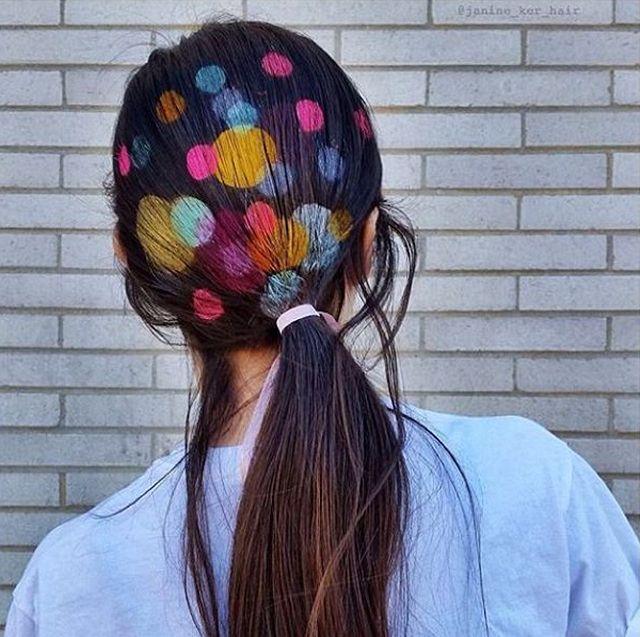 Новый модный тренд Instagram - трафареты на волосах