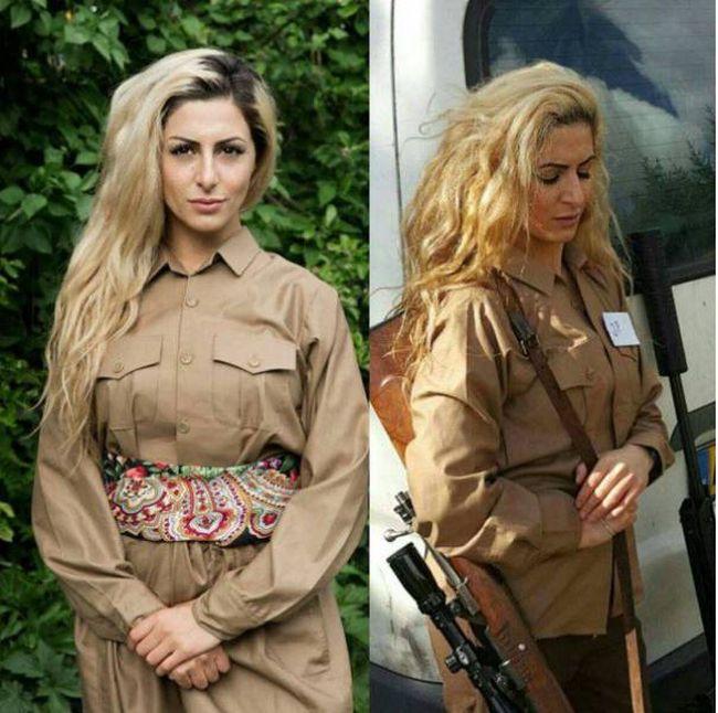 Девушка курдского происхождения бросила учебу в Дании ради борьбы с ИГИЛ