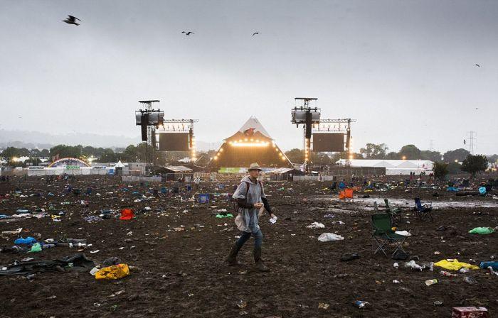 Место проведения Гластонберийского фестиваля после его завершения