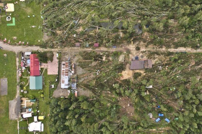 Последствия разбушевавшейся стихии в Беларуси