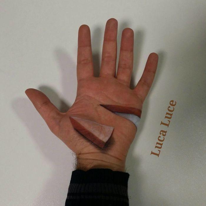 3D-иллюзии на ладонях, которые взорвут ваш мозг
