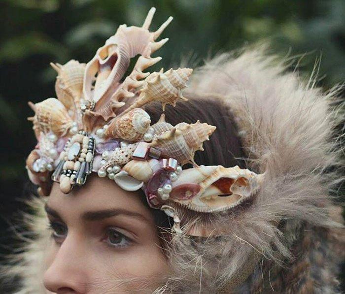 Короны из морских ракушек от Челси Шилз