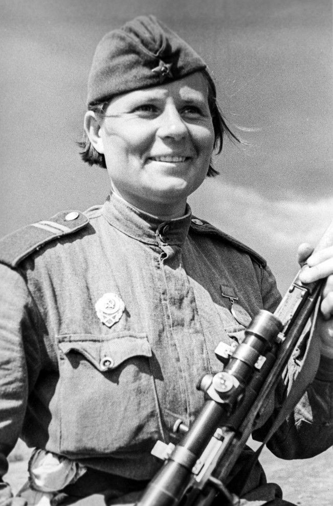 Soviet women snipers: We mowed down the Nazis, like mature grain