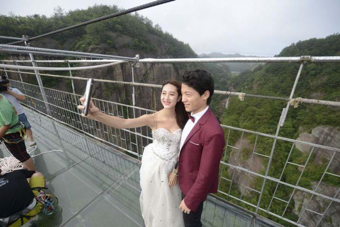 Экстремальная свадебная фотосессия