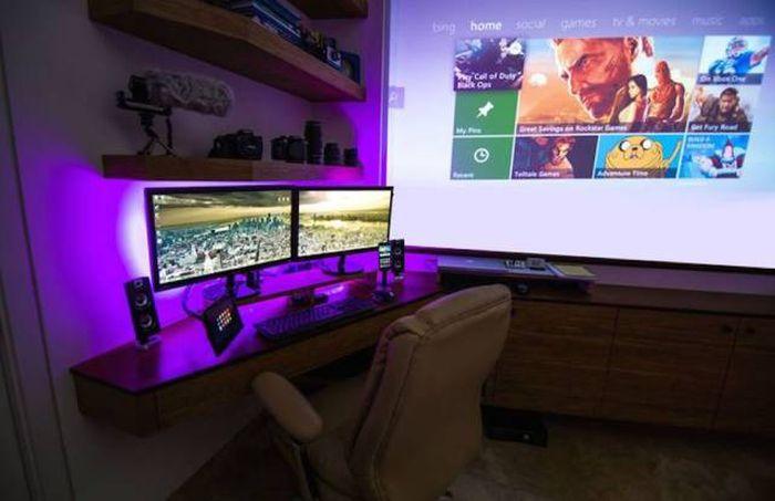 Крутые геймерские комнаты