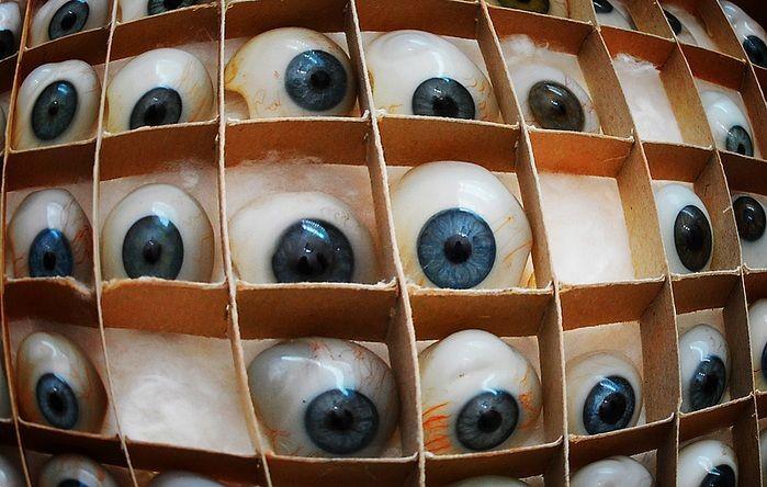 Фото производства стеклянный глазных протезов