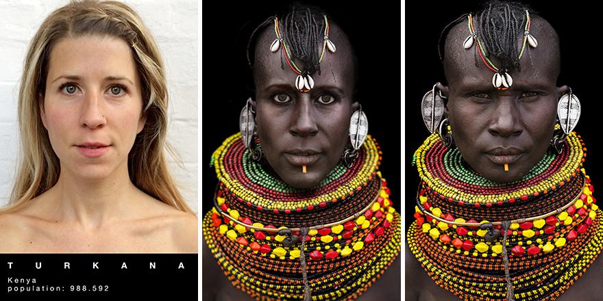 Viajero reencarnado en los representantes de diferentes tribus.