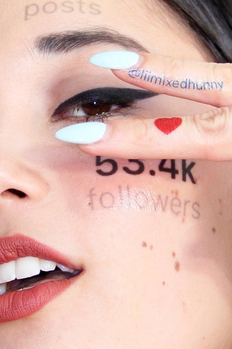 Если бы аккаунты в соцсетях проявлялись на коже