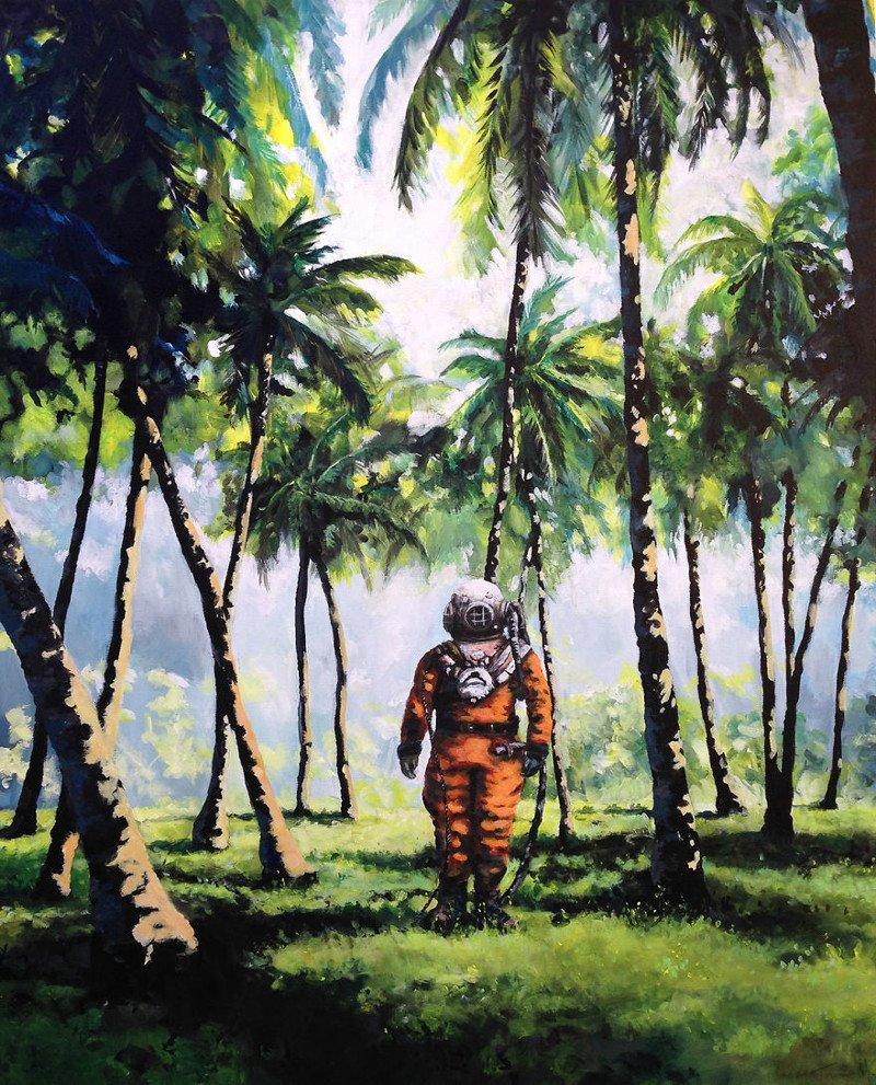 Астронавты, летающие фрукты и автобусные остановки в лесах