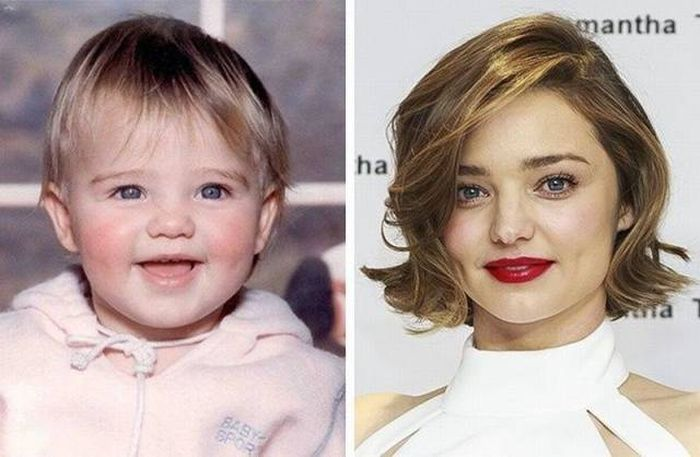 Знаменитые топ-модели в детстве и сейчас