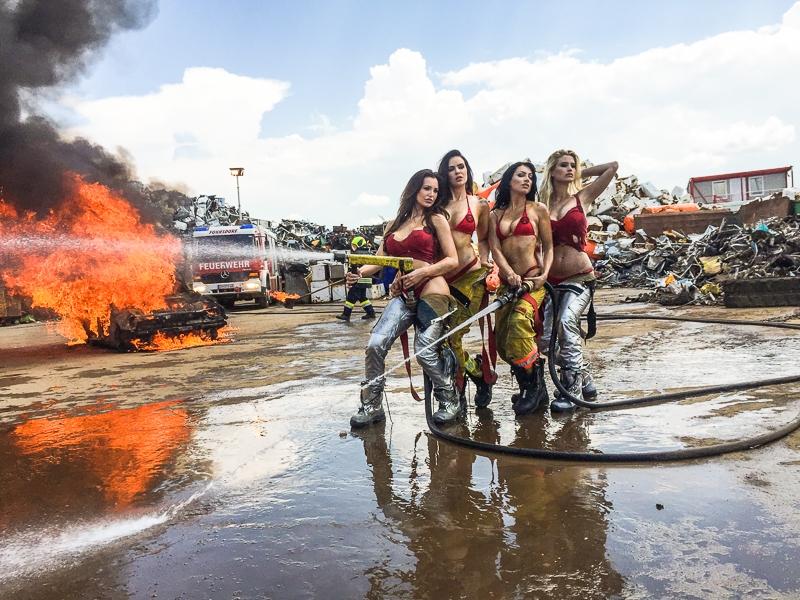 Как снимали календарь FireGirls-2017 с сексуальными пожарницами