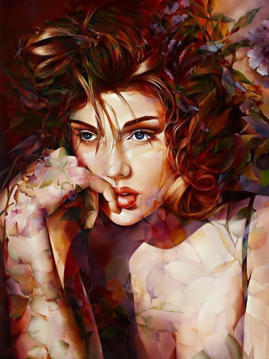 Осенние девушки от китайской художницы Венди Энджи