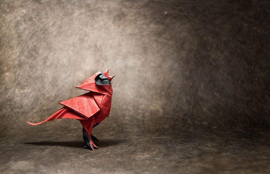 Потрясающие оригами, сложенные из одного листа