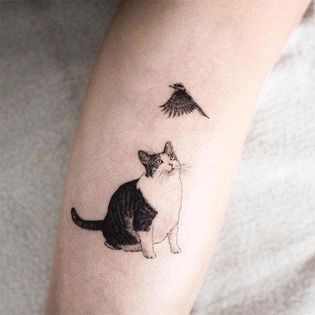 Утонченные минималистичные татуировки