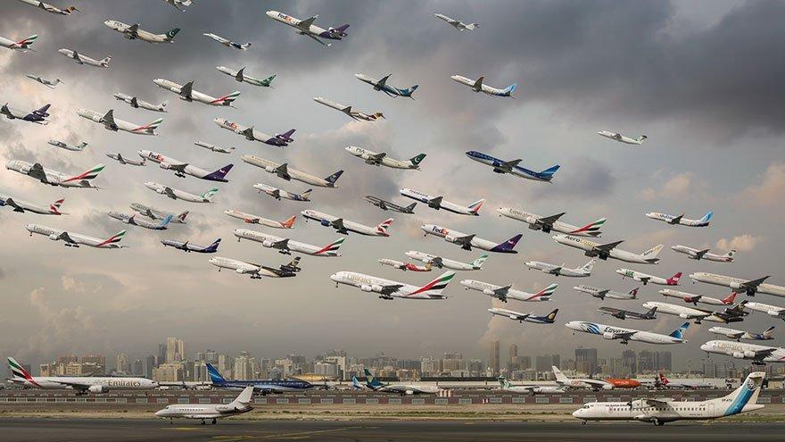 Воздушный трафик в фотографиях Майка Келли