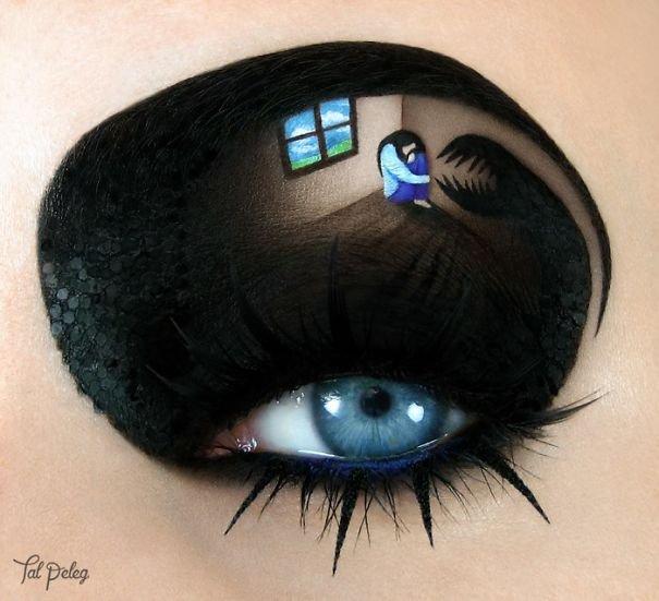 Хэллоуинский макияж глаз от Тал Пелег
