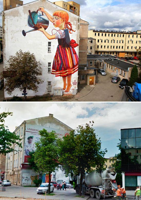Уличные художники преображают здания: до и после