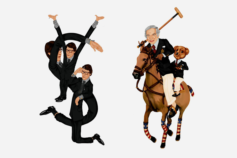 Художник добавил в логотипы известных брендов портреты их представителей