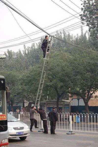 Эти люди не слышали о технике безопасности