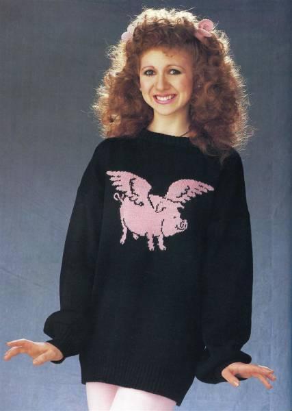 Модные свитера 1980-х