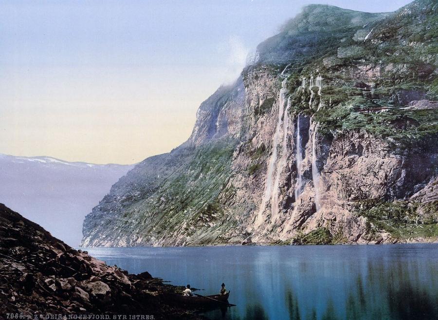 Великолепные цветные открытки: ледники и фьорды Норвегии в 1890-х годах