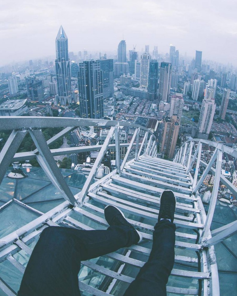 Шанхай c высоты небоскрёбов от Оливера Шоу