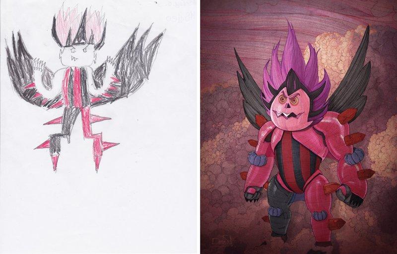 Детские рисунки монстров во взрослом исполнении