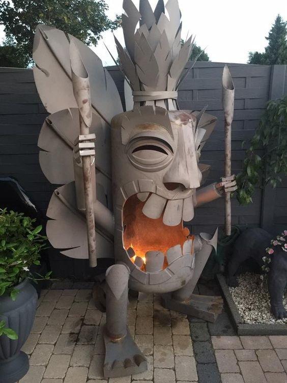 Креативные уличные камины