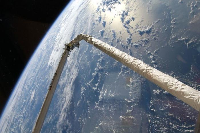 Фотографии работы в открытом космосе