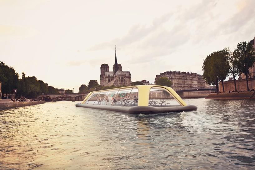 Концепт плавающего фитнес-зала в Париже